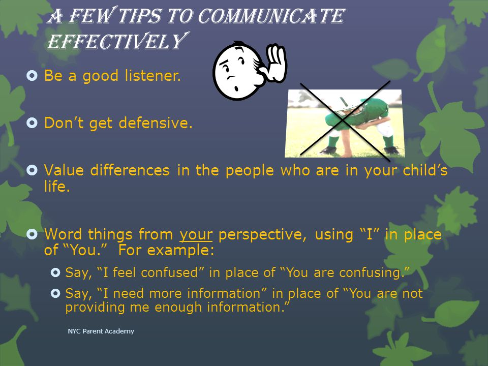 A Few Tips to Communicate Effectively