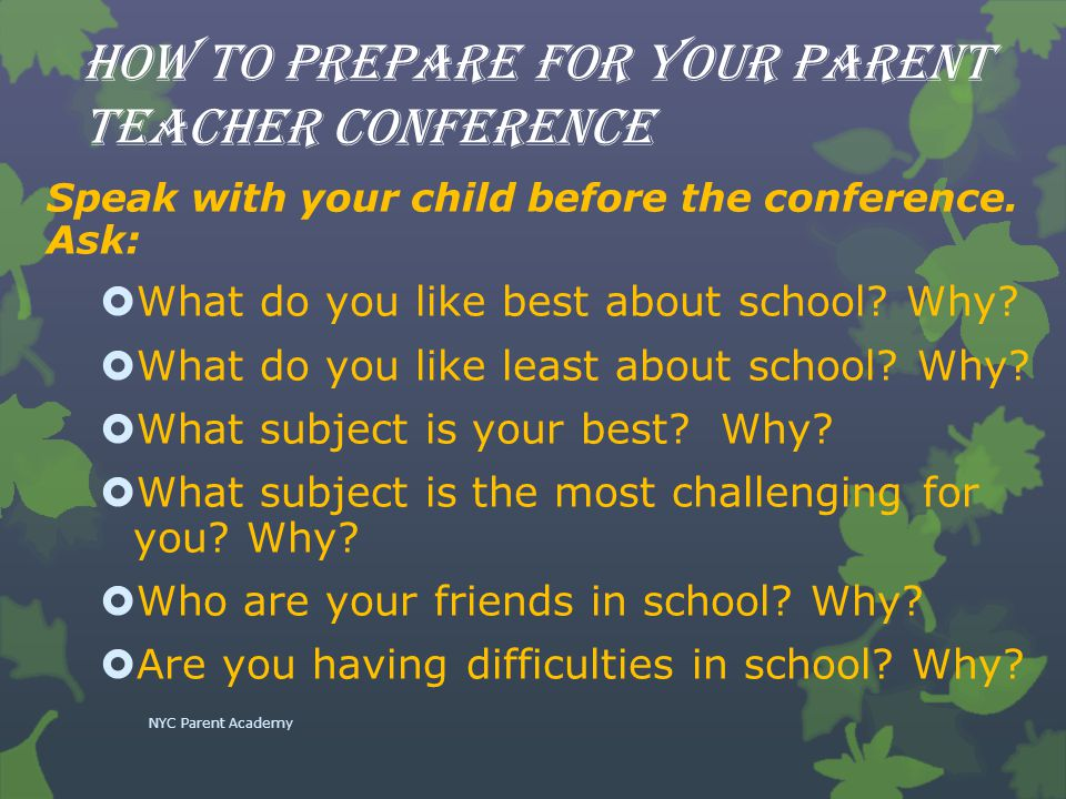 How to prepare for your parent teacher conference