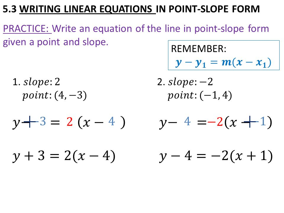 write an equation of a line given two points