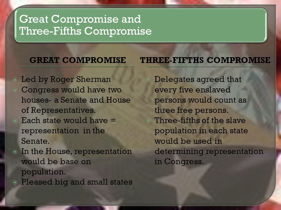 the compromises of the constitution In which craig benzine teaches you about the compromises met in ratifying the us constitution the united state's didn't always have its current.
