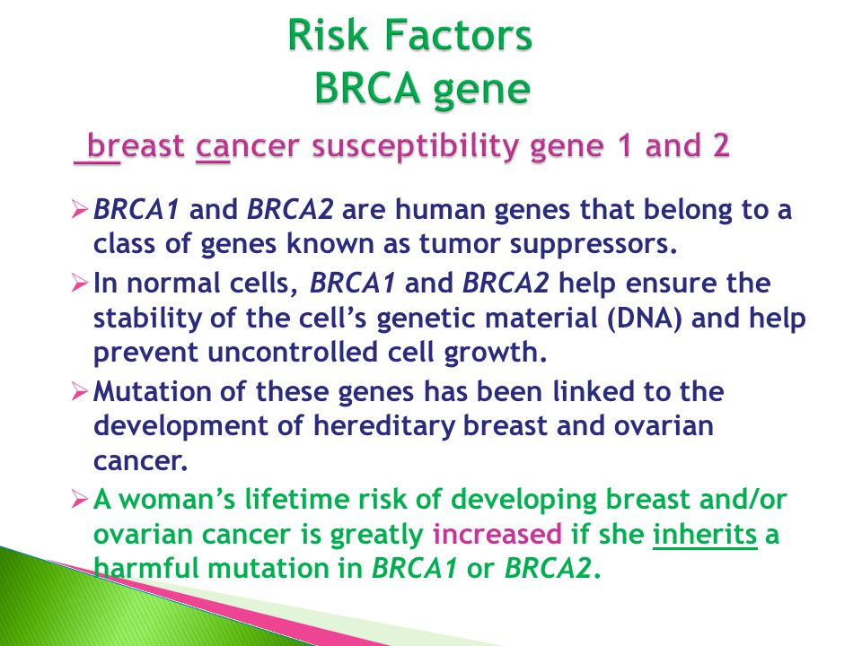 Genetics of Breast and Gynecologic Cancers