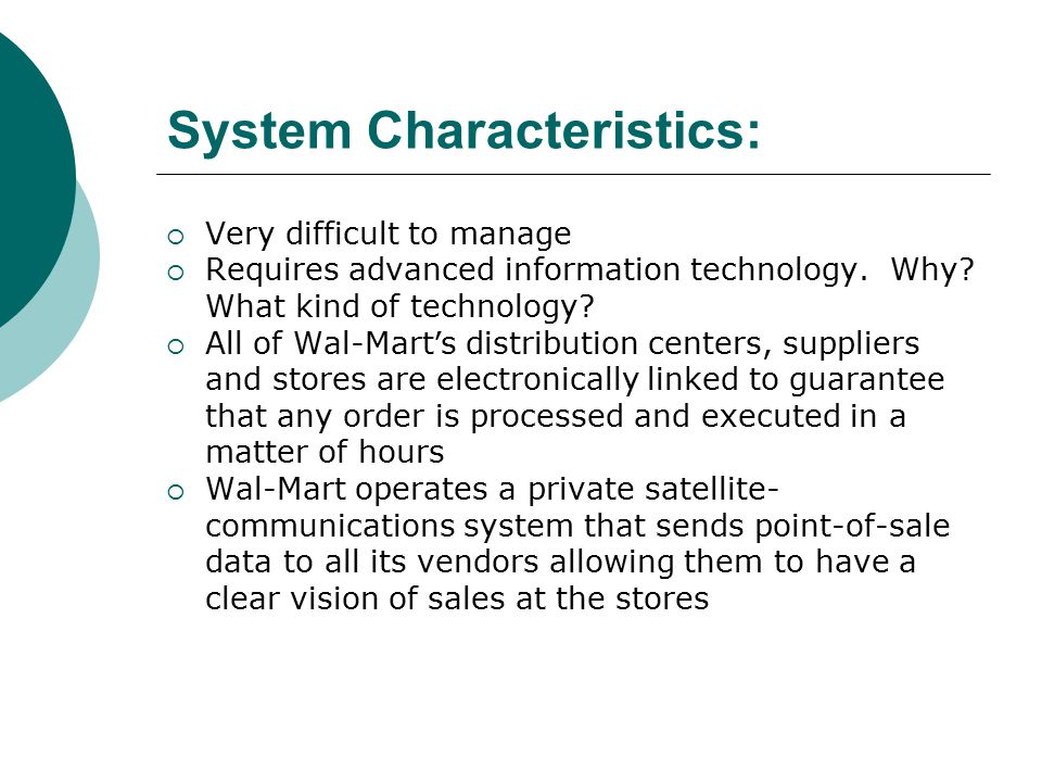 wal mart information system advancements Wal-mart advances its rfid system – computerweeklycom join the conversation 1 comment send me notifications when other members comment add my comment.