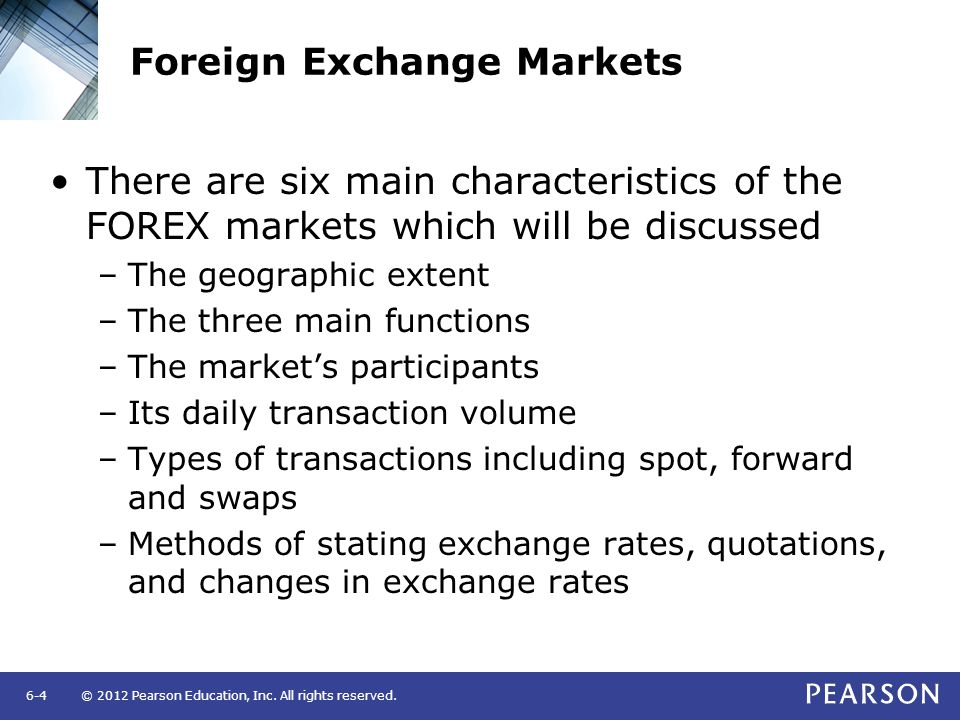 International exchange market