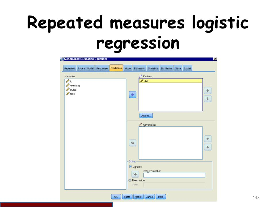 Repeated measures logistic regression
