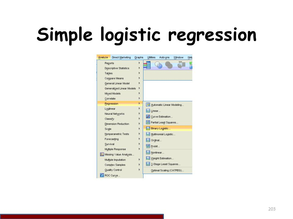 Simple logistic regression