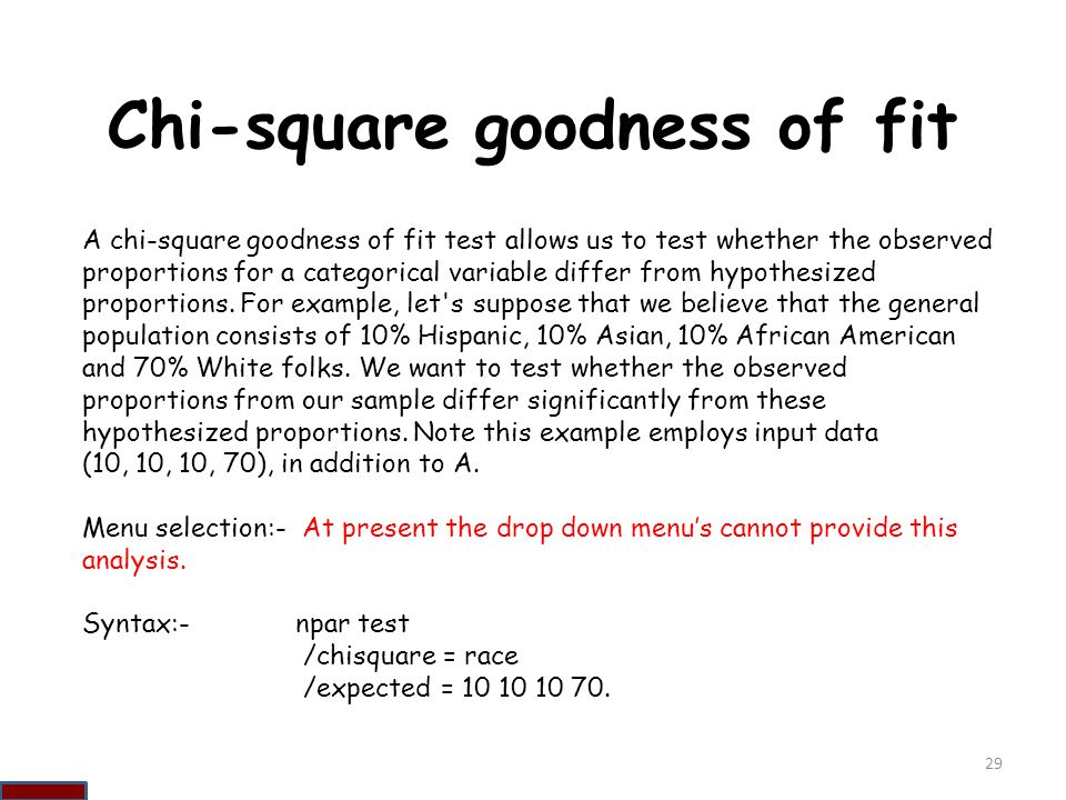 Chi-square goodness of fit
