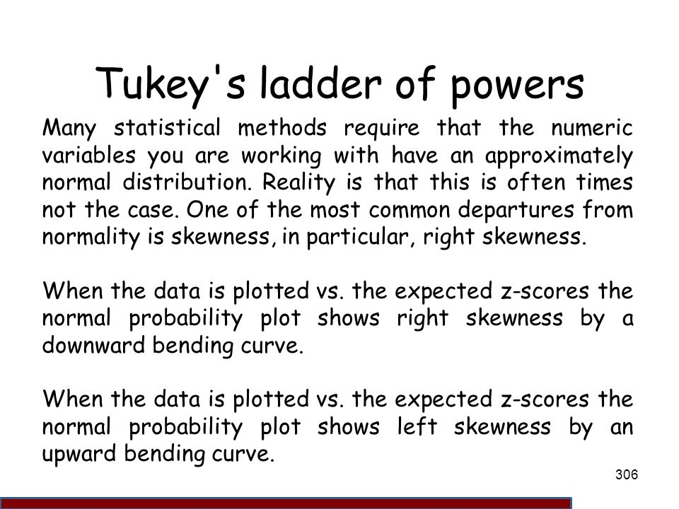 Tukey s ladder of powers