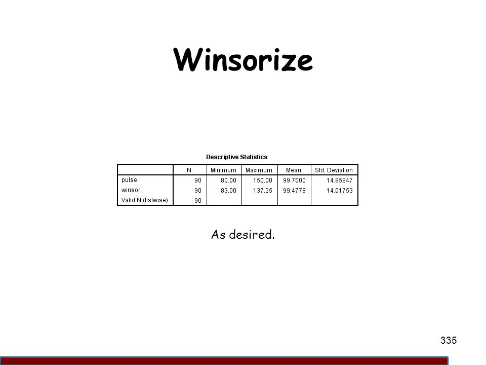 Winsorize As desired. 335