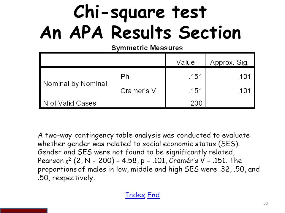 Chi-square test An APA Results Section