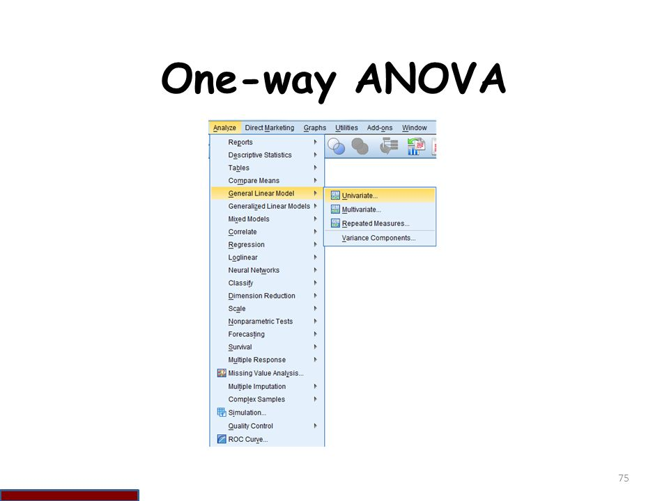 One-way ANOVA 75