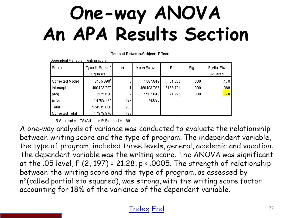 anova in research paper Abstract—the main aim of this paper is to find the cancer classification of bioinformatics data using anova the envisioned research will follow the main.