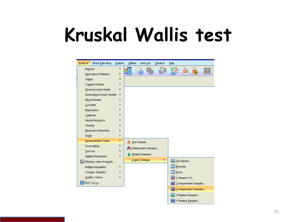 Kruskal Wallis test 79