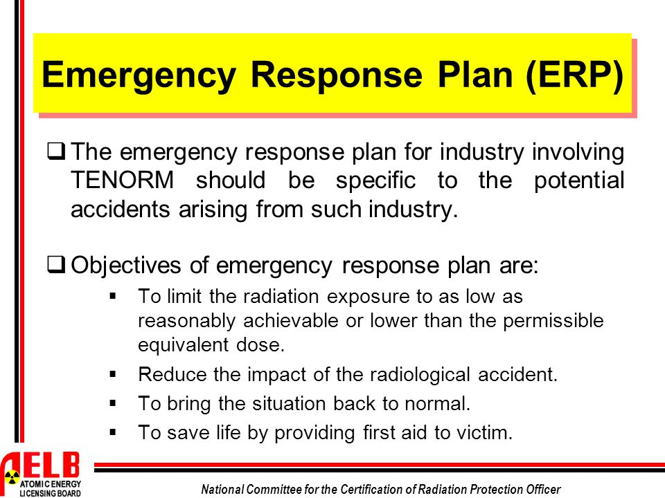 EMERGENCY PLAN AND PROCEDURE IN INDUSTRY INVOLVING NORM/TENORM ...