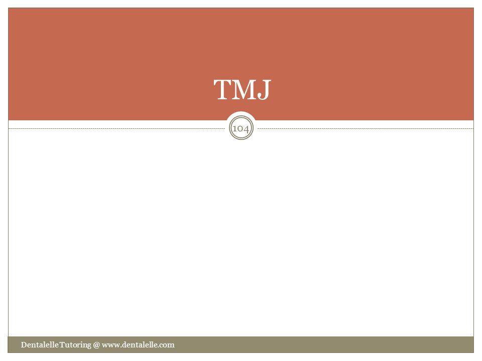 TMJ Dentalelle Tutoring @ www.dentalelle.com