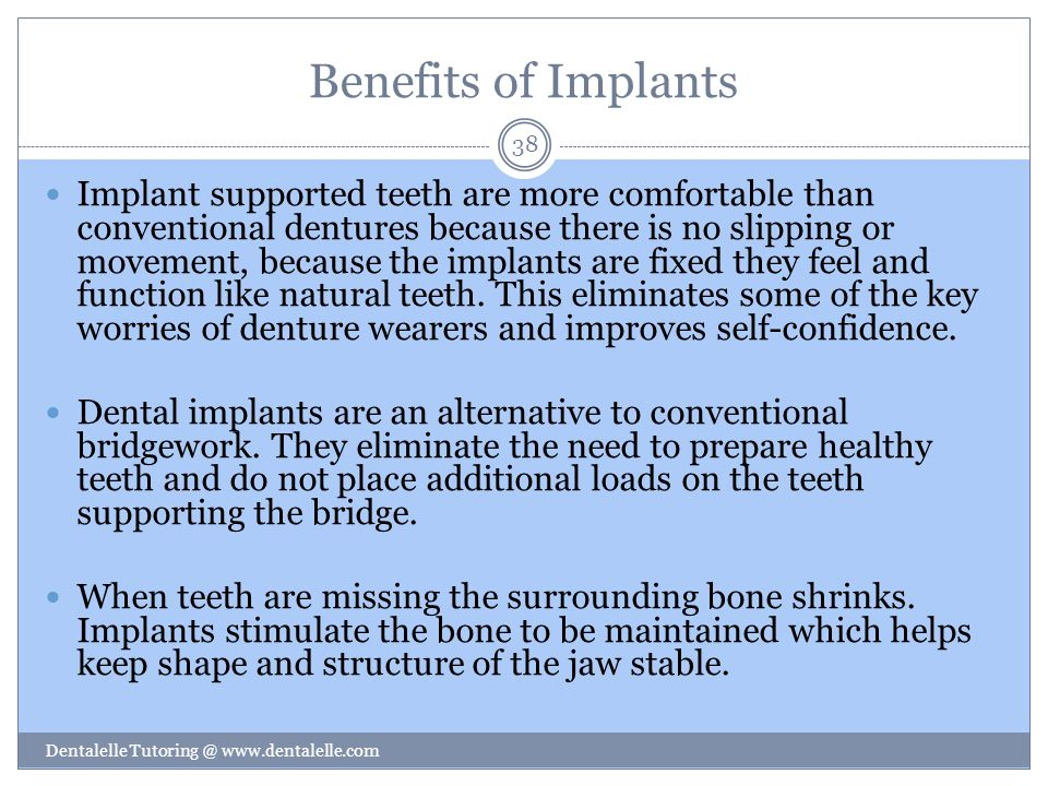 Benefits of Implants