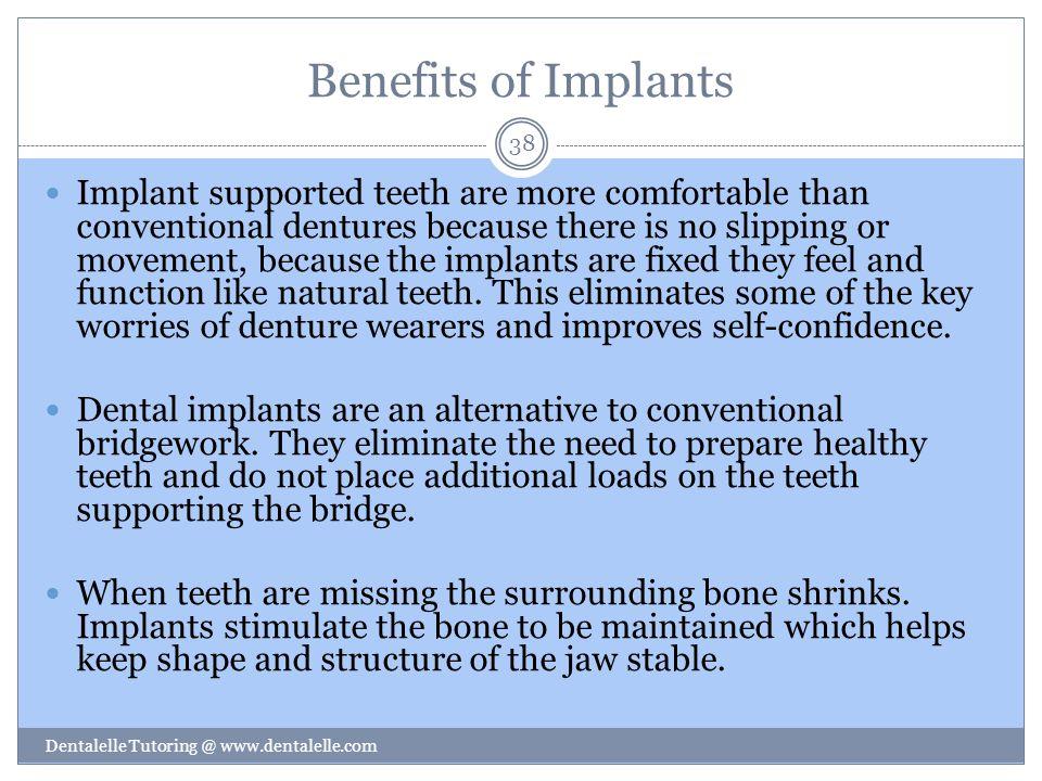 Benefits of Implants