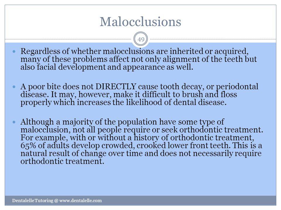 Malocclusions