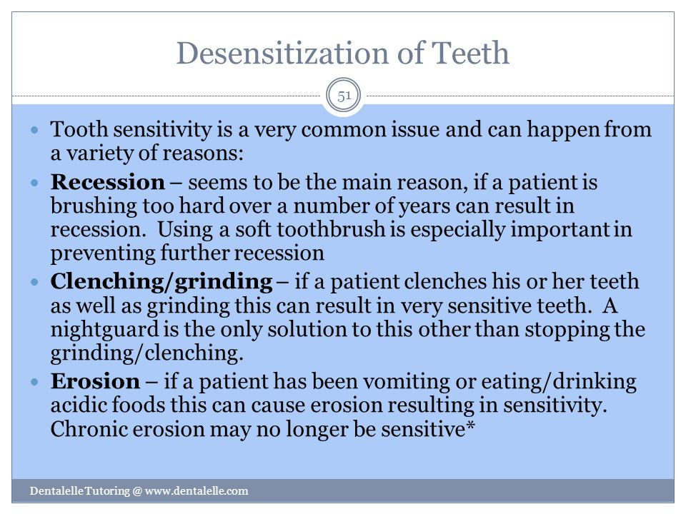 Desensitization of Teeth
