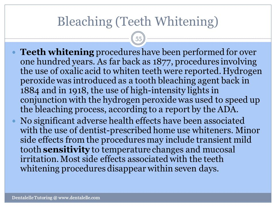 Bleaching (Teeth Whitening)