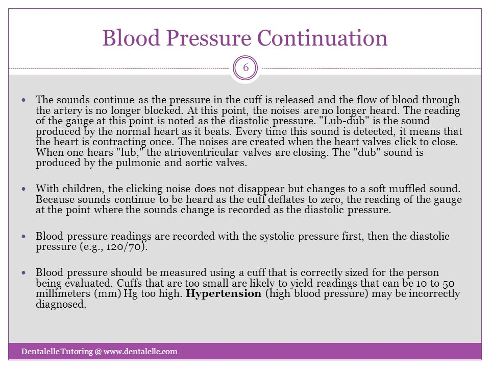 Blood Pressure Continuation