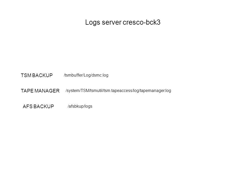Logs server cresco-bck3