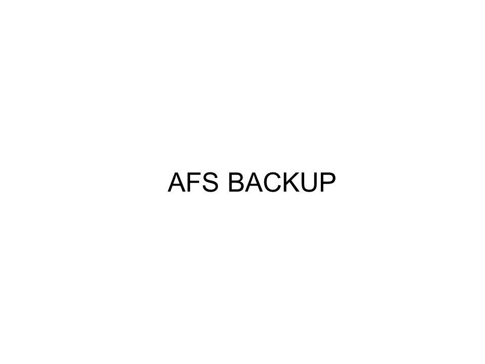 AFS BACKUP