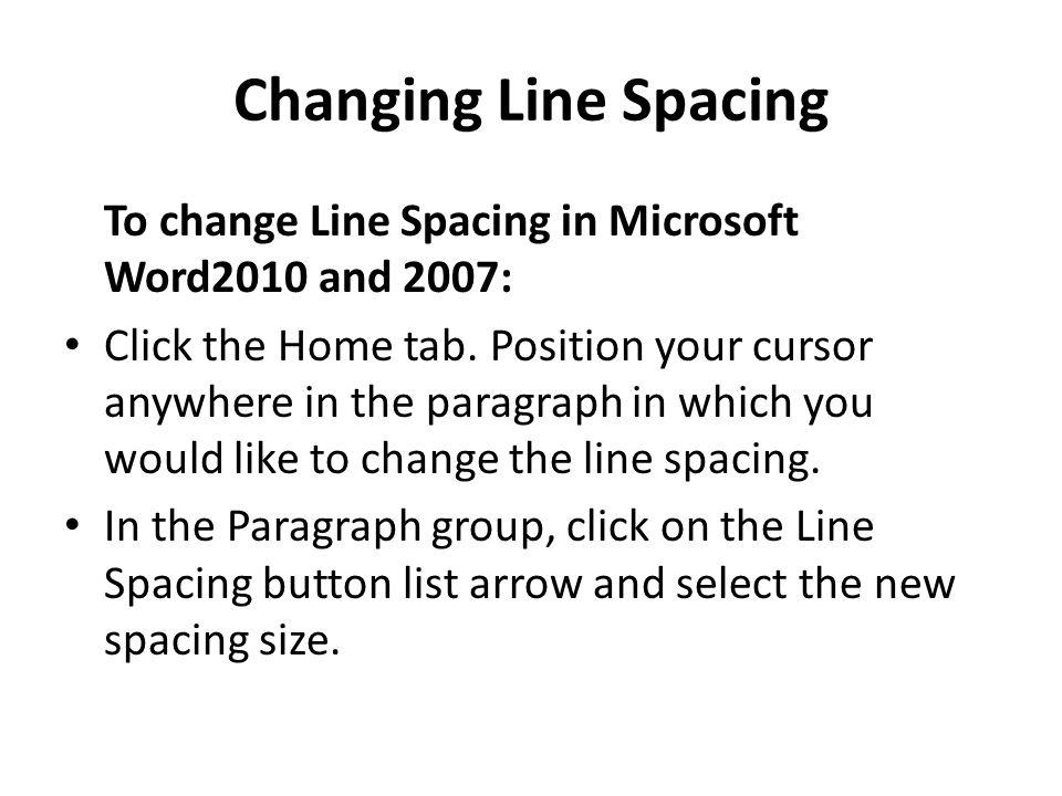 how to get single spacing in word 2010