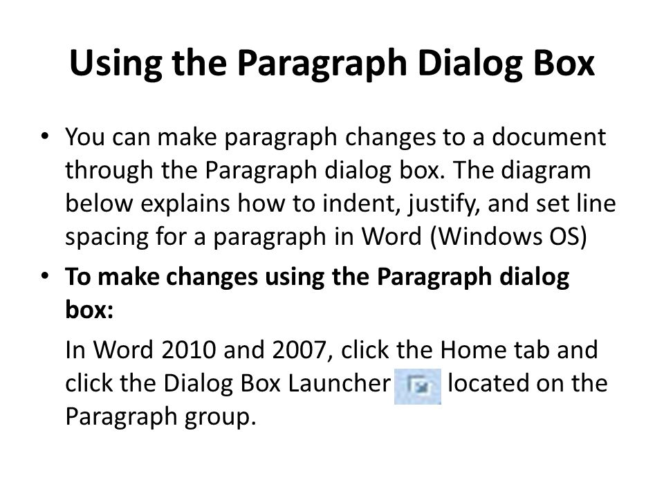 how to make a paragraph in word