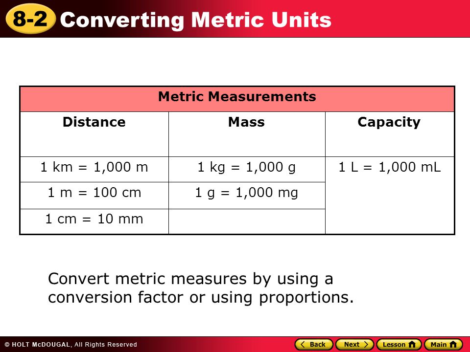 Learn to convert metric units of measure ppt video online download - How to convert liter to kilogram ...