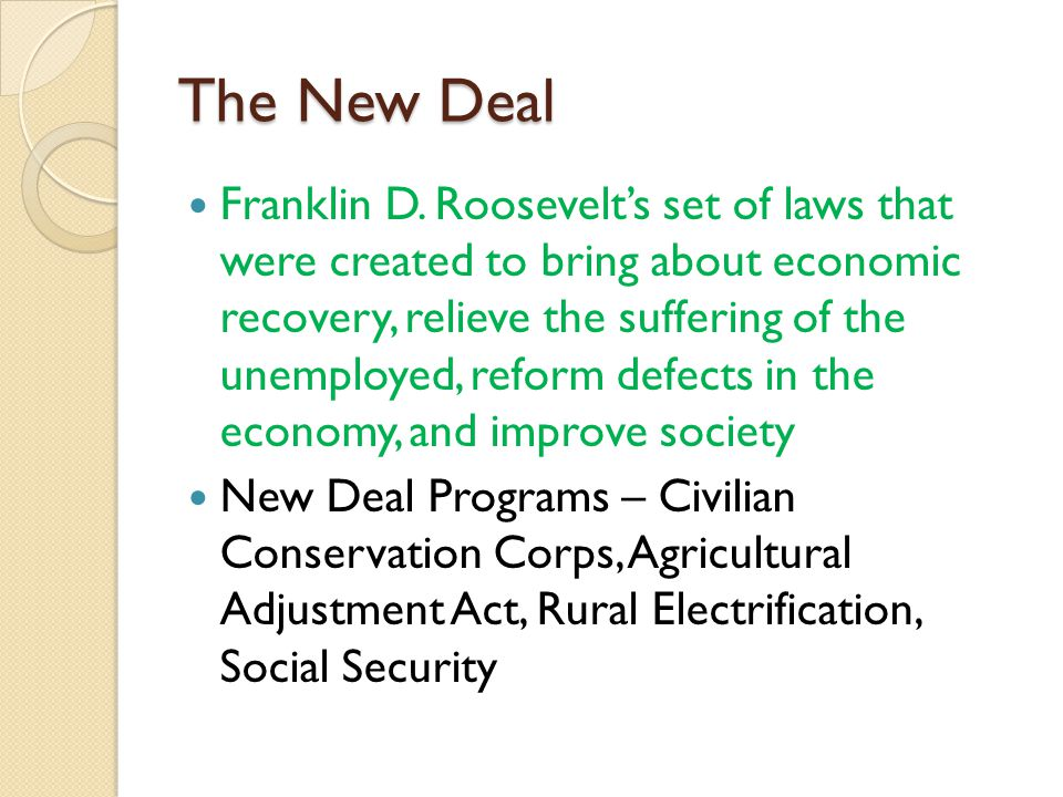 relief recovery and reform brought by franklin roosevelts new deal The new president, franklin roosevelt relief, recovery and reform ' all the programs involved in this action were called together 'the new deal' relief.