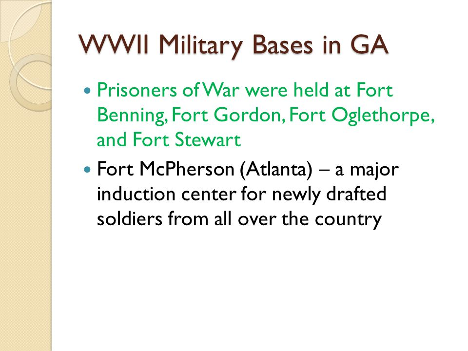 The great depression and world war ii ppt video online download wwii military bases in ga publicscrutiny Gallery