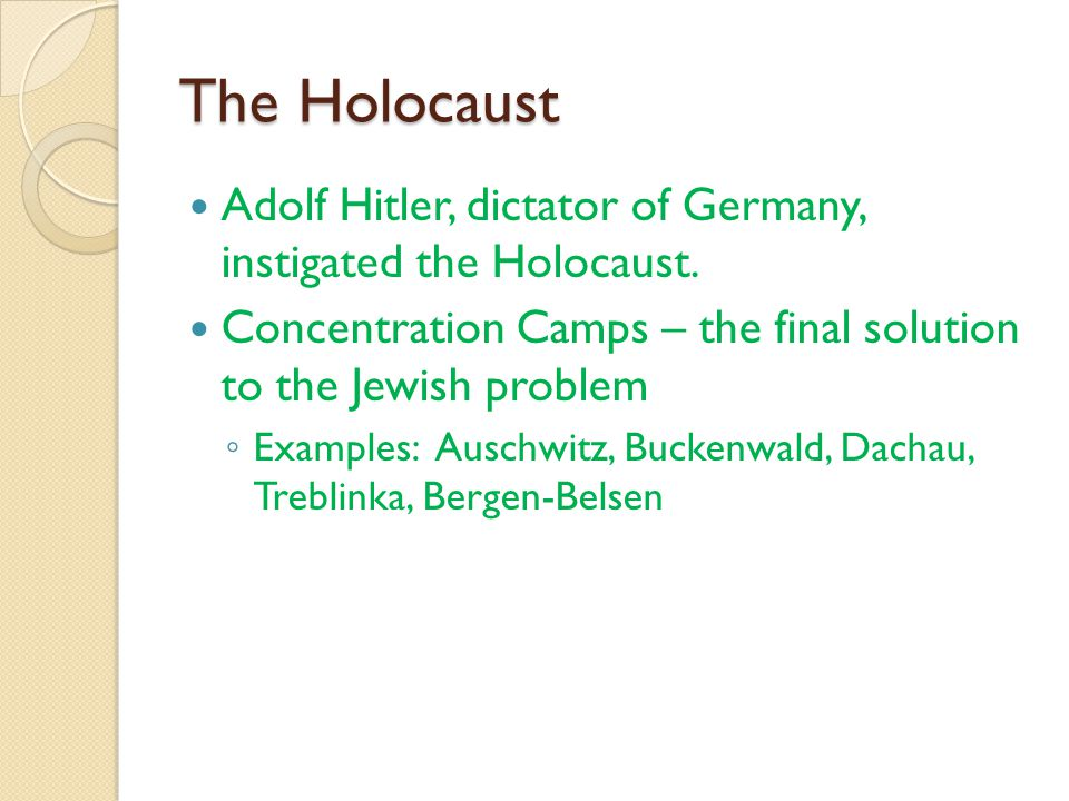 an analysis of adolf hitlers the final solution to the jewish problem in germany In germany adolf hitler,  [tags: final solution, jewish people] 954 words (27 pages)  as part of hitlers final solution,.