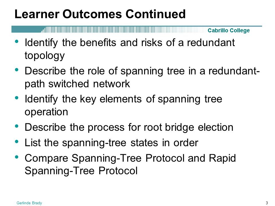 Learner Outcomes Continued