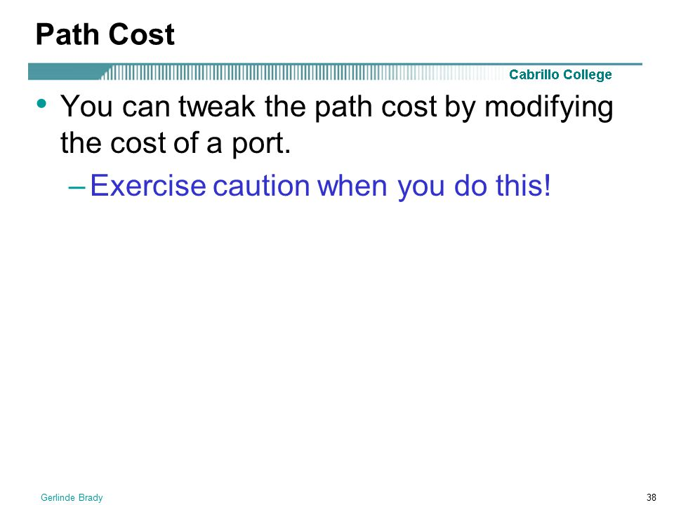 You can tweak the path cost by modifying the cost of a port.