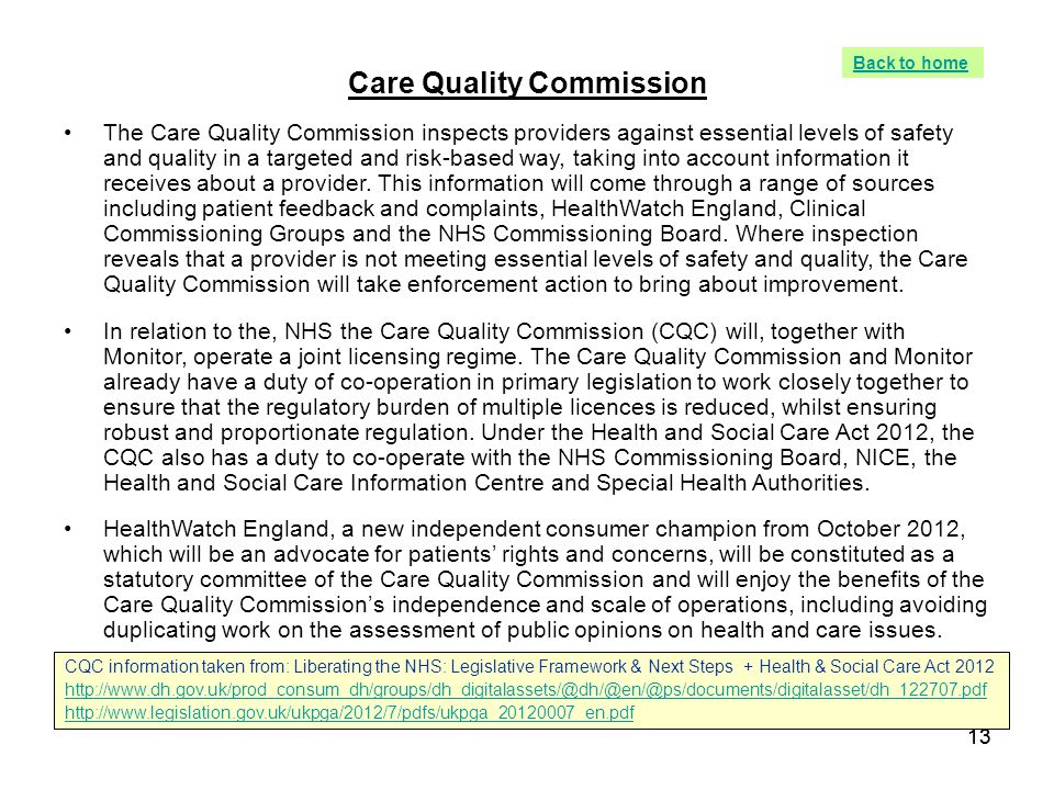 care quality commission T he equality and human rights commission's damning report on home care services confirms for many of its critics that the industry's regulator, the care quality commission (cqc), has again been.
