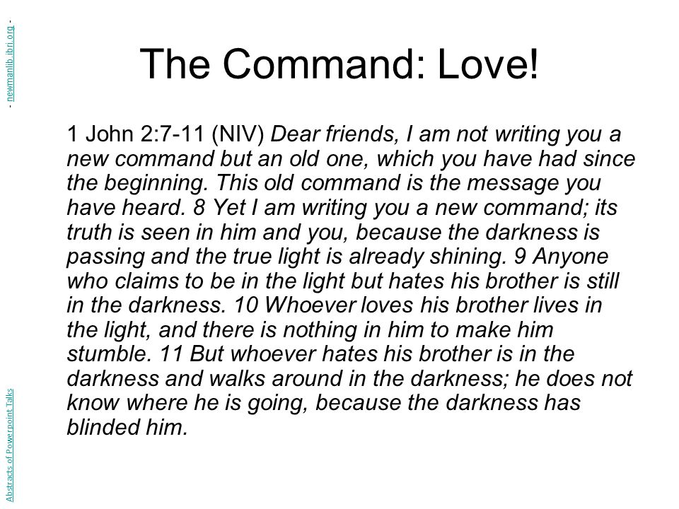 The Command: Love! - newmanlib.ibri.org -