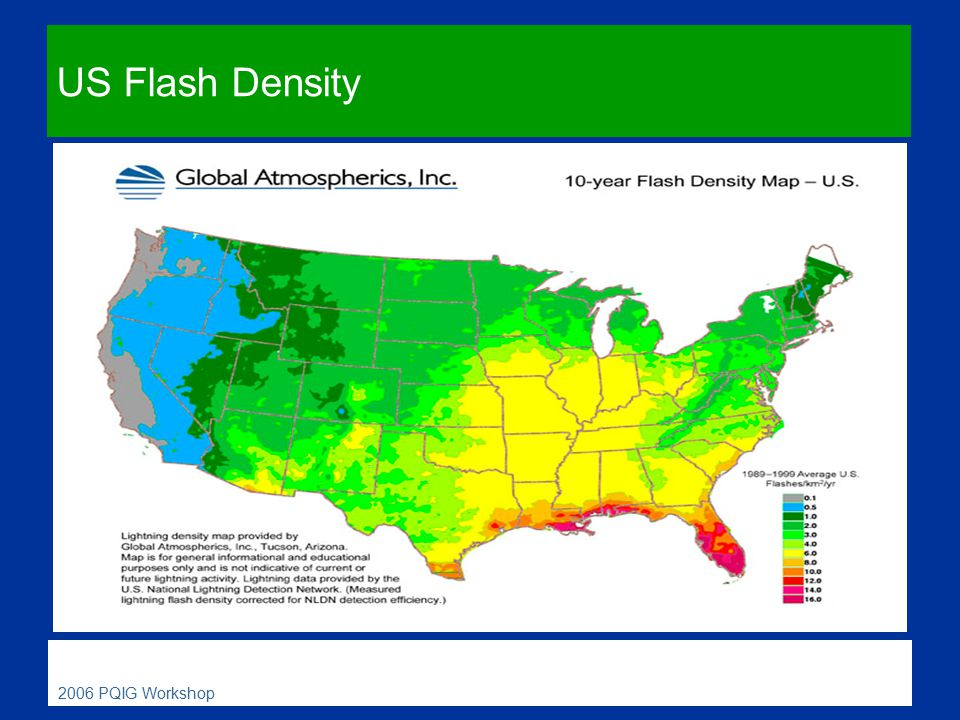 The Physics Of Lightning Ppt Video Online Download - Us lightning map