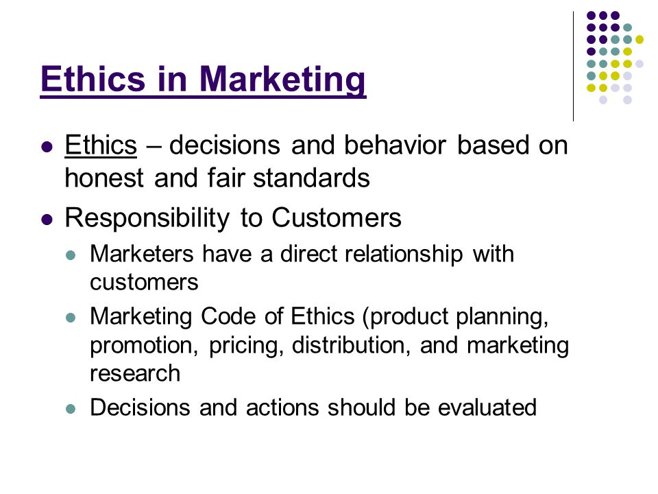 an ethical basis for relationship marketing Top 10 ethics traps by stephanie francis ward november 2007   overlooking the marketing rules  on the basis of the amount of work each lawyer performs in the matter or second, if by.