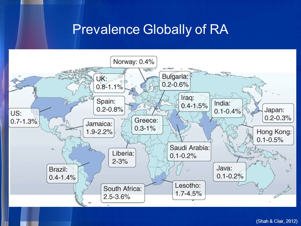 Diagnosis Prevention And Ppt Download - Arthritis prevalence us map