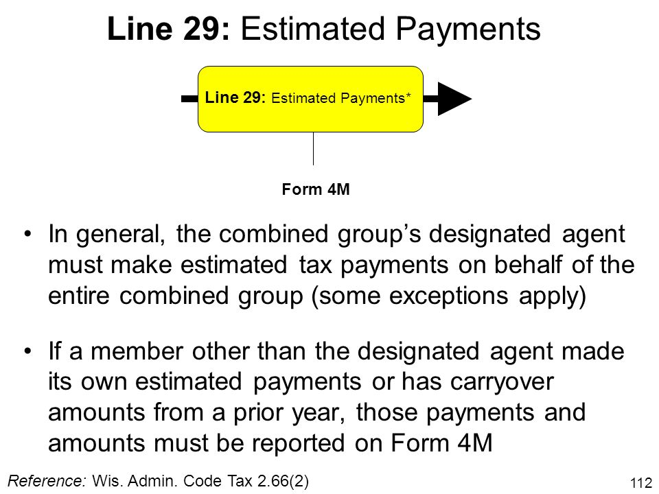 Line 29: Estimated Payments