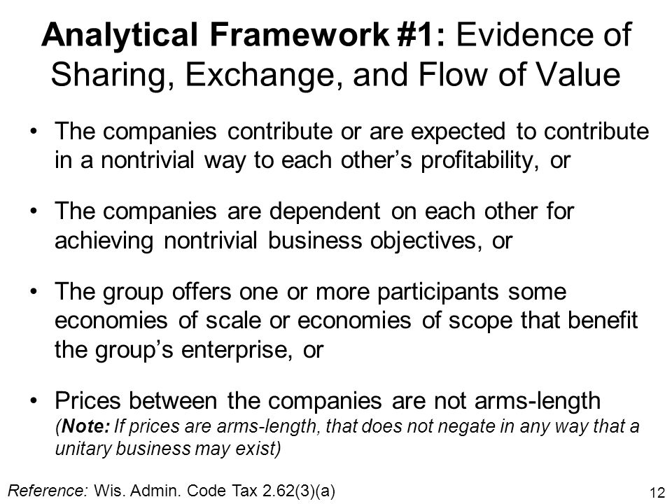 Analytical Framework #1: Evidence of Sharing, Exchange, and Flow of Value