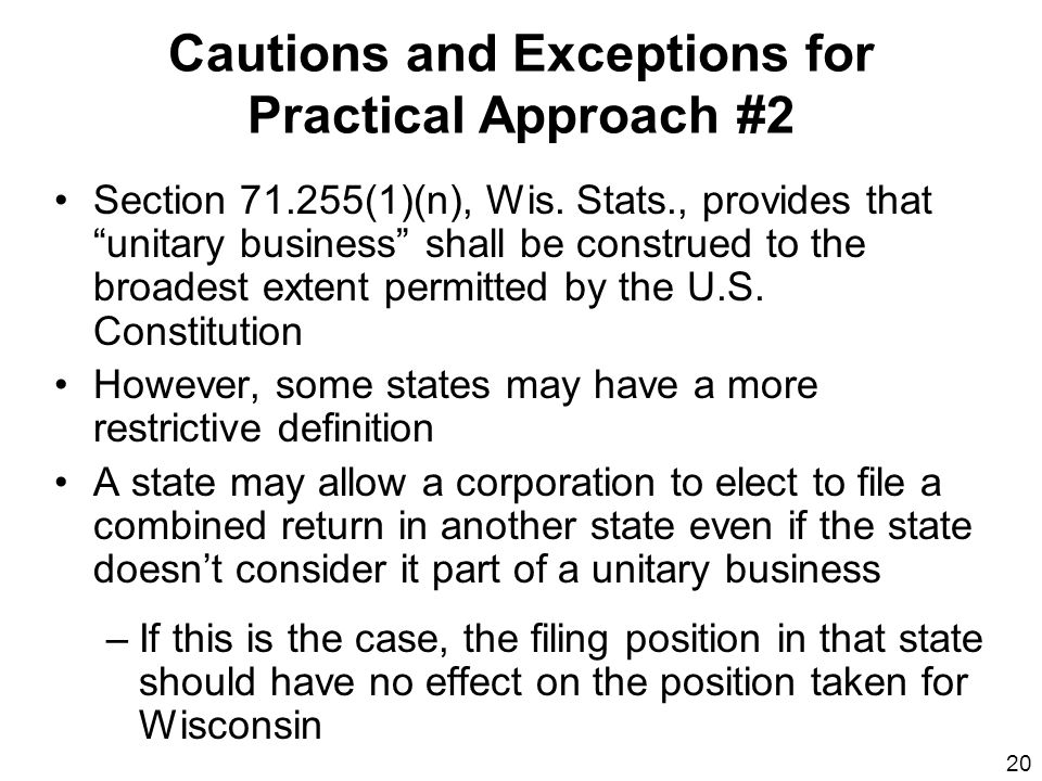Cautions and Exceptions for Practical Approach #2