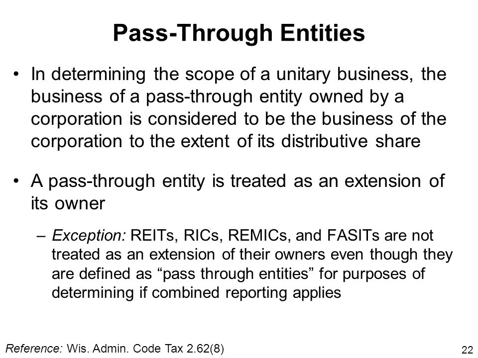Pass-Through Entities