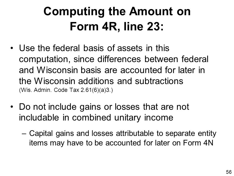 Computing the Amount on Form 4R, line 23: