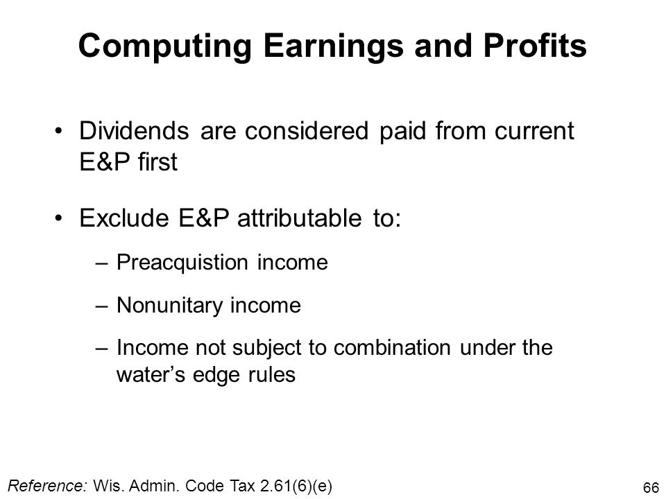 Computing Earnings and Profits