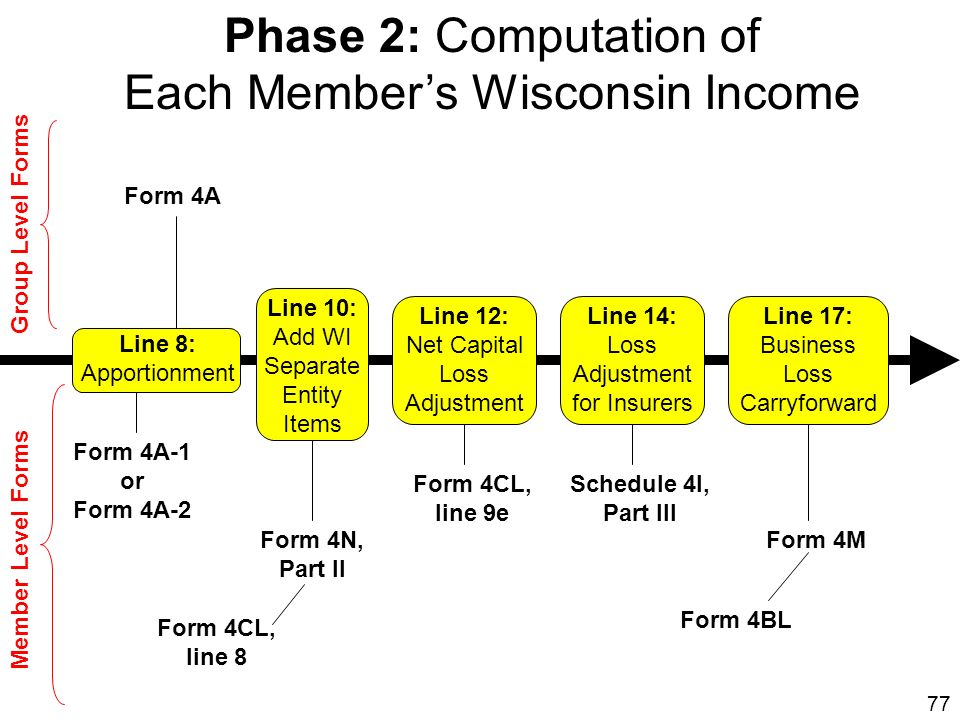 Each Member's Wisconsin Income