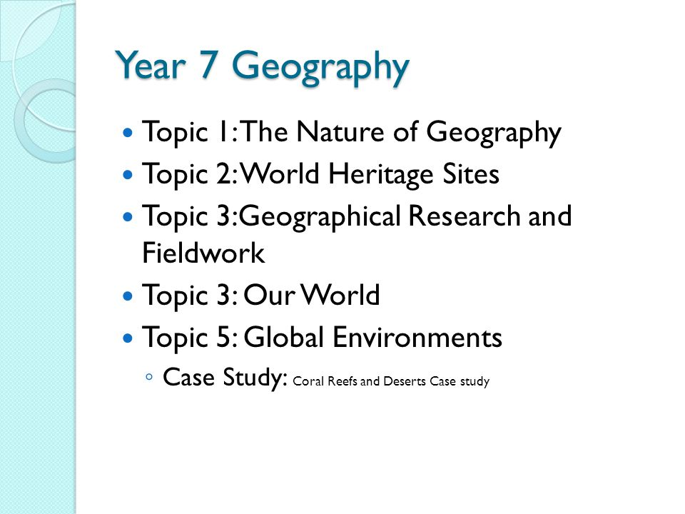 YEAR 7 GEOGRAPHY Miss Vidler - ppt download