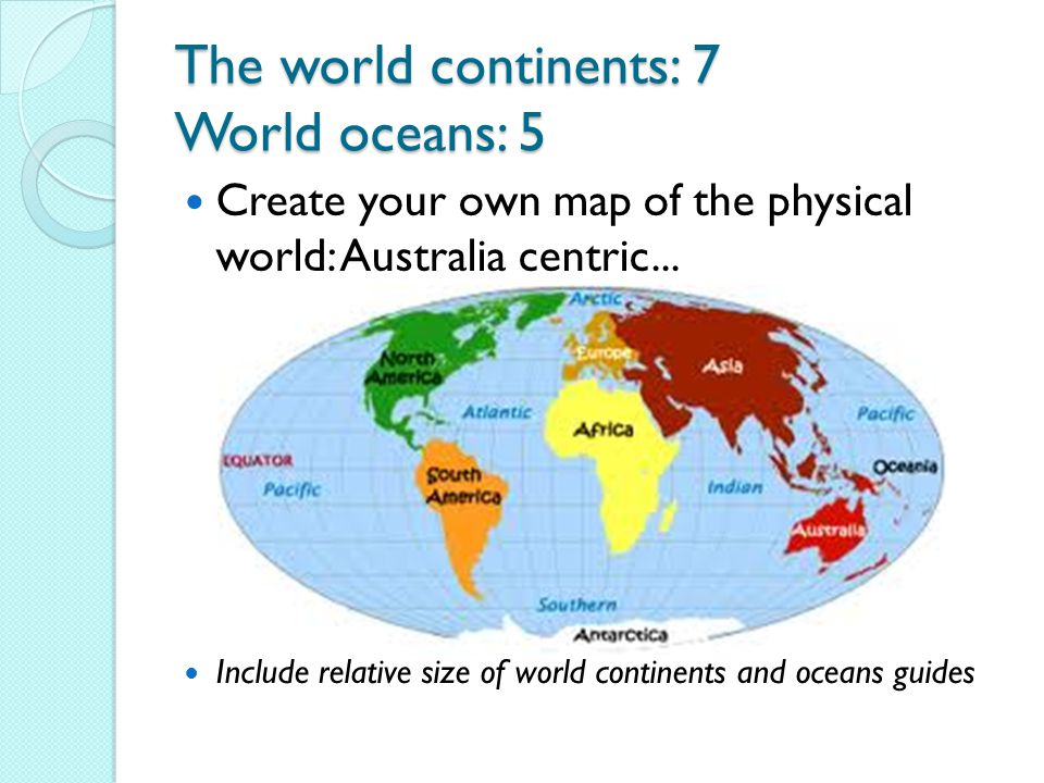 YEAR GEOGRAPHY Miss Vidler Ppt Download - The physical world continents and oceans