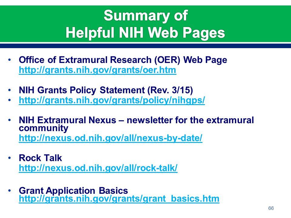 Nih Natural Disaster Policy