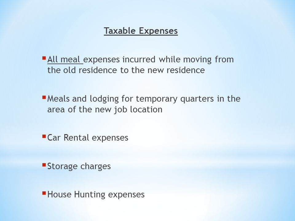 Irs Moving Expenses Rental Car